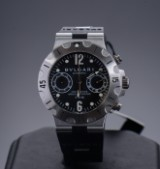 Bulgari Diagono Scuba Automatic, herrearmbåndsur med chronographfunktion