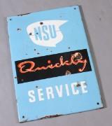 NSU quickly emaljeskilt, 1950'erne