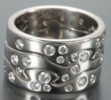 Georg Jensen. Fusions ring with brilliant-cut diamonds (3)