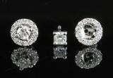 Earrings in 18k set with brilliant cut diamonds 0.56 ct