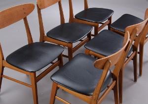dansk design spisestole Farstrup. Spisebordsstole af teak og bøg (6) | Lauritz.com dansk design spisestole