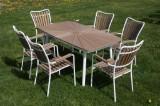 Daneline Havemøbler. Havebord samt seks armstole.(7)