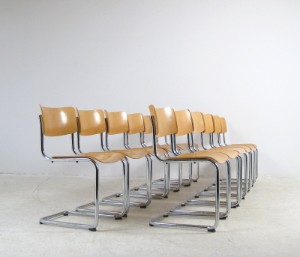 ware 3042225 mart stam stahlrohr freischwinger st hle modell s 43 12. Black Bedroom Furniture Sets. Home Design Ideas