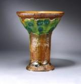 Svend Hammershøi for  Kähler. Tidlig unica skønvirke vase af begitteler, ca. 1904-1910
