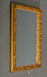 Spejl i ramme af forgyldt træ og gesso, 1800-tallet