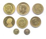 Hele verden guldmønter m.v.