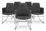 Niels Gammelgaard. 'Fortuna', six chairs, anthracite  (6)