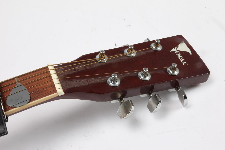 Western guitar mrk. Eagle samt harmonika (3).   Lauritz.com