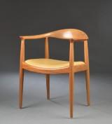 Hans J. Wegner. Armchair, 'The Chair' / JH-501, mahogni Hans J. Wegner. Armstol 'The chair / den runde stol', model JH-501, mahogany