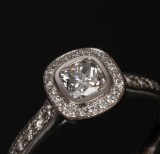 Hartmann. Ring, 18 kt. white gold with diamonds