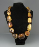 Amber necklace approx. 249.6 g.