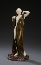 Ernst Seger. 'Phryne'. Sculpture, alabaster and bronze