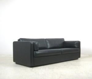 lot 4134120 klassisches lounge sofa in schwarzem leder. Black Bedroom Furniture Sets. Home Design Ideas