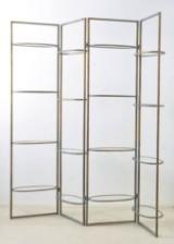 Shelving with glass shelves