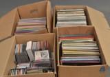 Samling cd och Lp-skivor