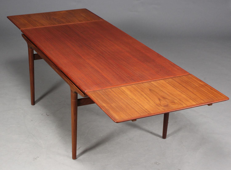 Johannes Andersen. Spisebord, teaktræ |