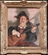 L. Scherrer. 'Guitarspilleren', olie på lærred