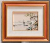 Unbekannter Künstler, Ansicht von Venedig, Öl auf Leinwand