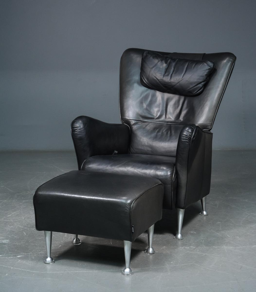 Tom Stepp, lænestol med skammel, Swedese (2)