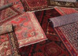 Samling persiske Hamadan tæpper (10)