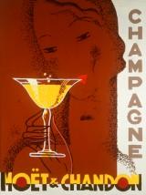 Ubekendt kunstner, olie på lærred, 'Champagne'