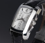Baume & Mercier 'Hampton'. Men's chronograph, steel, with original strap and clasp, 2000s