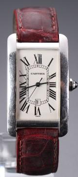 Cartier 'Tank Americaine', herrearmbåndsur af 18 kt hvidguld