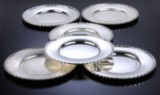 Frantz Hingelberg. Sterling silver service plates, 4,980 grams (6)