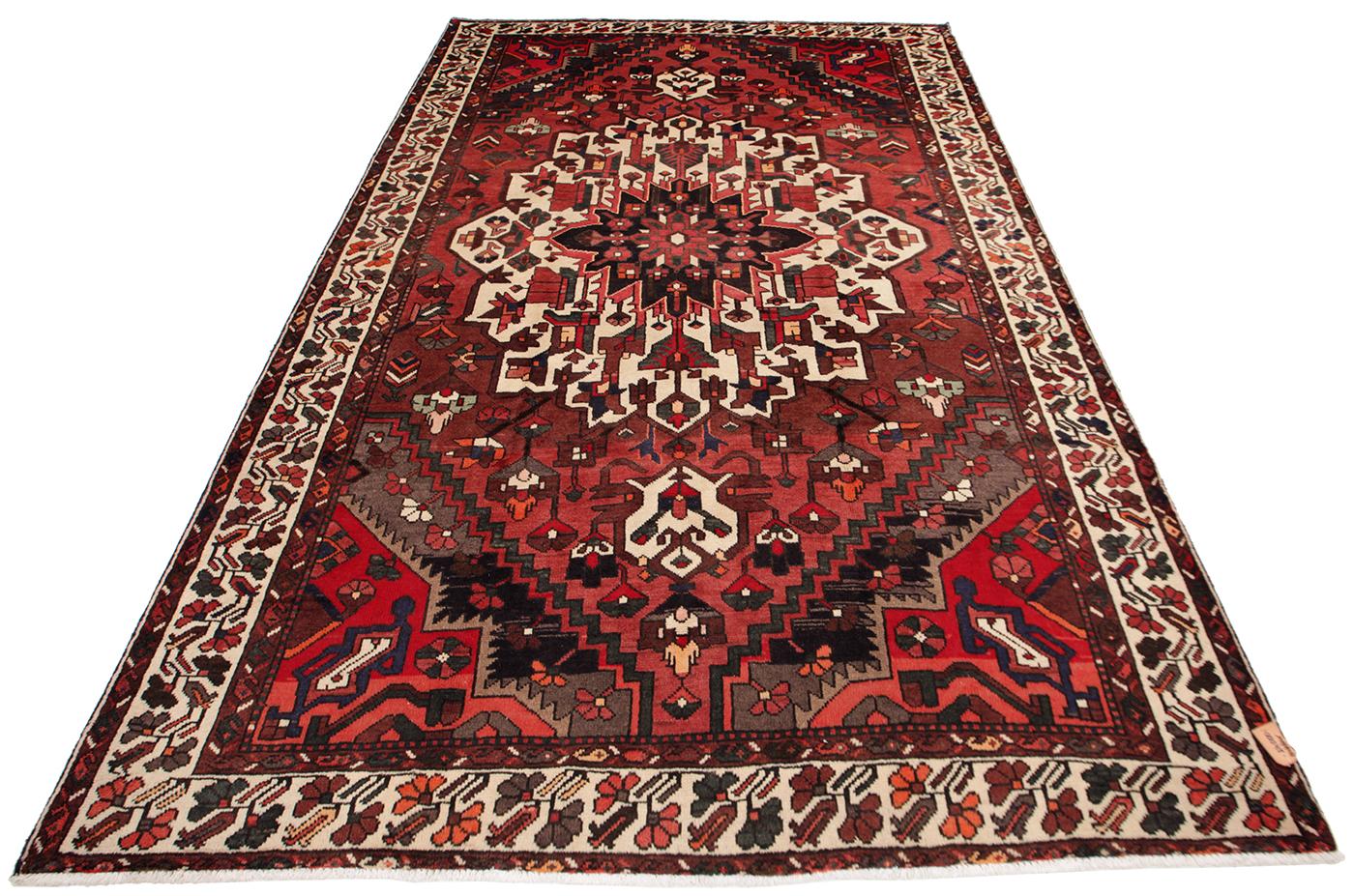 Persisk Bakhtiari 311 x 215 cm - Persisk Bakhtiari 311 x 215 cm Håndknyttet uld på bomuld