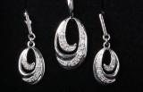 Smykkesæt af sterlingsølv prydet med diamanter 0,06 ct. (3)