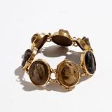 Armband 18 k guld lavakaméer