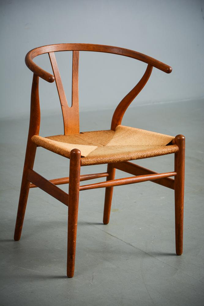 hans j wegner stol y stol Auktionstipset   Hans J. Wegner. Y stol af eg m. flet, Carl Hansen  hans j wegner stol y stol