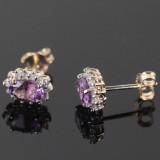 Ametyst- og diamantørestikkere (2)