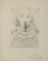 Salvador Dali (1904 – 1989), dry point etching, 'Shakespeare' 1968