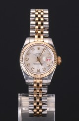 Rolex Oyster Perpetual Datejust ladies watch with diamonds