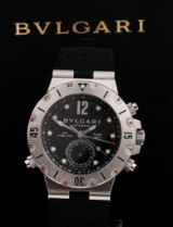 Bvlgari 'Diagono Scuba GMT'. Men's watch, steel and plastic, with date