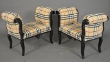 Paar Sesselchen mit kariertem Bezug (2)