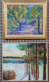 Ubekendte kunstnere. Landskaber, Olie på plade og lærred (2)