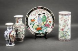 Samling kinesisk og japansk porcelæn, dekoreret med polykrom glasur, 1900-tallet (4)