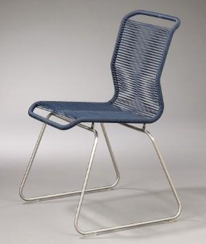 Strålende Verner Panton. 'Tivoli' stol. Blå. | Lauritz.com SS-97