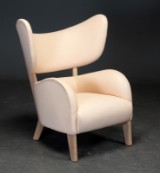 Flemming Lassen. My Own Chair. Lounge chair in leather