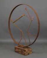 Andrzej Danielski, skulptur 'Figur im Rad'