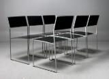 Jouko Järvisalo, six chairs, 'Kila', brushed steel