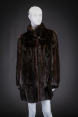 Mink fur, mahogany, size 40/42, marked Chr. Hjorth Willum