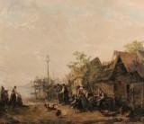 Oil painting, Adrien Schulz, 'Bauerngehöft'