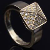 Brilliant-cut diamond ring, approx. 0.40 ct.