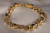 Armband, WEMPE, 750er Gold, mit Saphiren und Brillanten