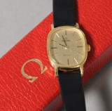 Omega, damearmbåndsur af stål / double, De Ville