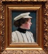 Paul Fischer, portrait of daughter Harriet, 1902