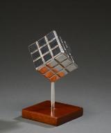 Morten V. Petersen. Rubic-cube forsølvet med finsølv renhed 999